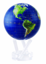 """4.5"""" Satellite View MOVA Globe with Gold Lettering and Self Rotating Feature"""