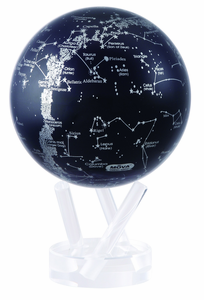 "4.5"" Silver Constellation in Blue Mova Globe self rotating globe for homes and offices"