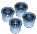 """4 Pack Solar Dock Dots for 1 3/8"""" Holes Salt Water Rated for Nautical Docks & Decks"""