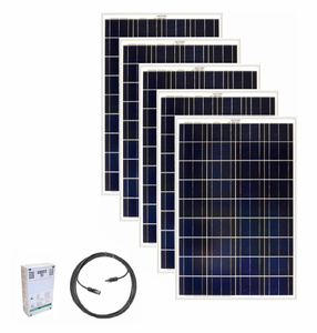 5 Panel - 500 Watt Expansion Kit for the Earthtech Products Ultimate Solar Generator Kit