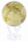 "6"" Antique MOVA Globe with automatic rotation feature"
