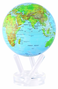 """6"""" Blue Green MOVA Globe with automatic rotation feature"""