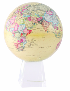 "8.5"" Antique Mova Globe with Mediuim Crystal Base"