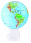 "8.5"" Blue Green Relief Map MOVA Globe with Large Crystal Base"