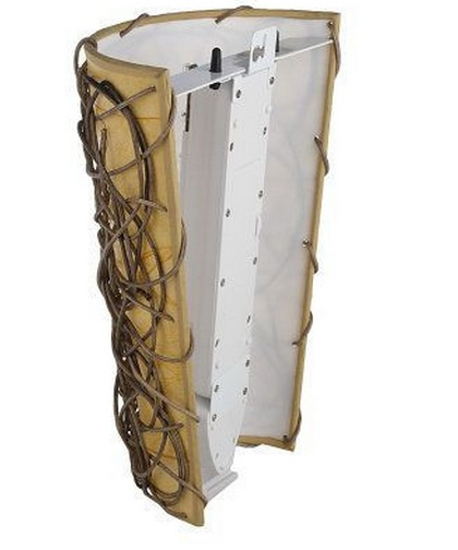 - Battery Operated Wall Sconce - Wicker Style