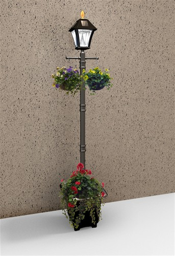 Baytown Outdoor Solar Lamp Post And