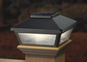 "Black Solar Post Cap Light, Decorative Solar Light for 4x4 Posts (Inside Dimensions measure 3-5/8"" x 3-5/8"")"