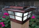 Copper Prestige Solar Post Cap for 6x6 Posts