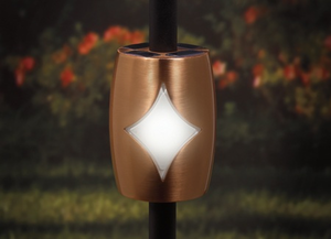 "Copper Solar Baluster Light for 3/4"" Round Balusters"