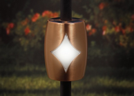 """Copper Solar Baluster Light for 3/4"""" Round Balusters"""
