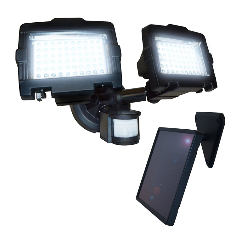 Outdoor Security Lights With Camera Nature power dual head 120 led solar security light workwithnaturefo