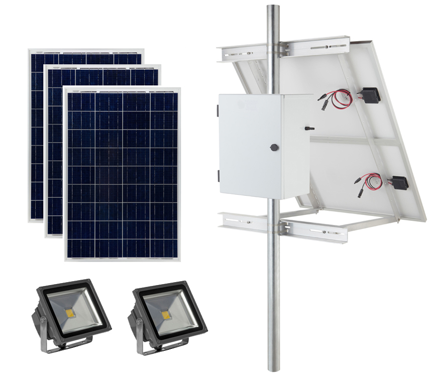 Earthtech Products Commercial Solar Flag Pole Lighting Kit