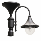 "Everest Solar Lamp with GS Solar LED Light Bulb in Black - Fits Existing 3"" Post"