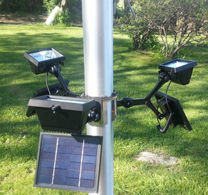 Extreme Commercial Solar Flagpole Light 360 Degrees - Total of 840 LUX