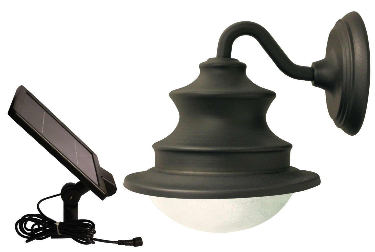 Solar Barn Light With Gooseneck Wall Mount For Patios Garages Sheds And Greenhouses