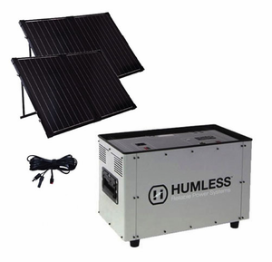 Humless 1500 Series 1.3 kWh Solar Generator with 1500 Watt Inverter & 260 Watts of Solar Panels