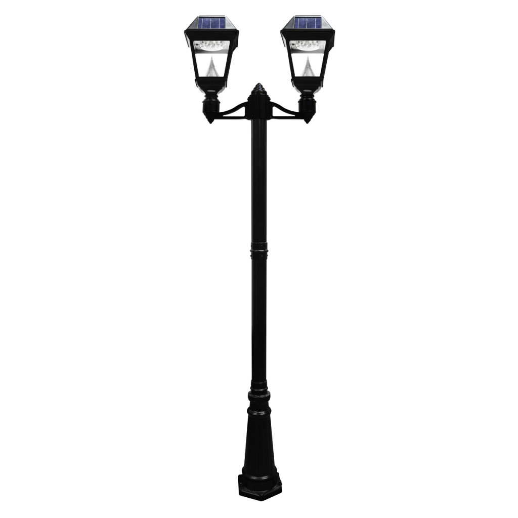 Imperial II Solar Lamp Post - Double Head for Garden Lamp Png  67qdu