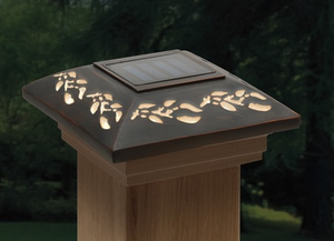"Leaf Designer Post Cap Light for 4x4 Posts (Inside Dimensions measure 3-5/8"" x 3-5/8"")"