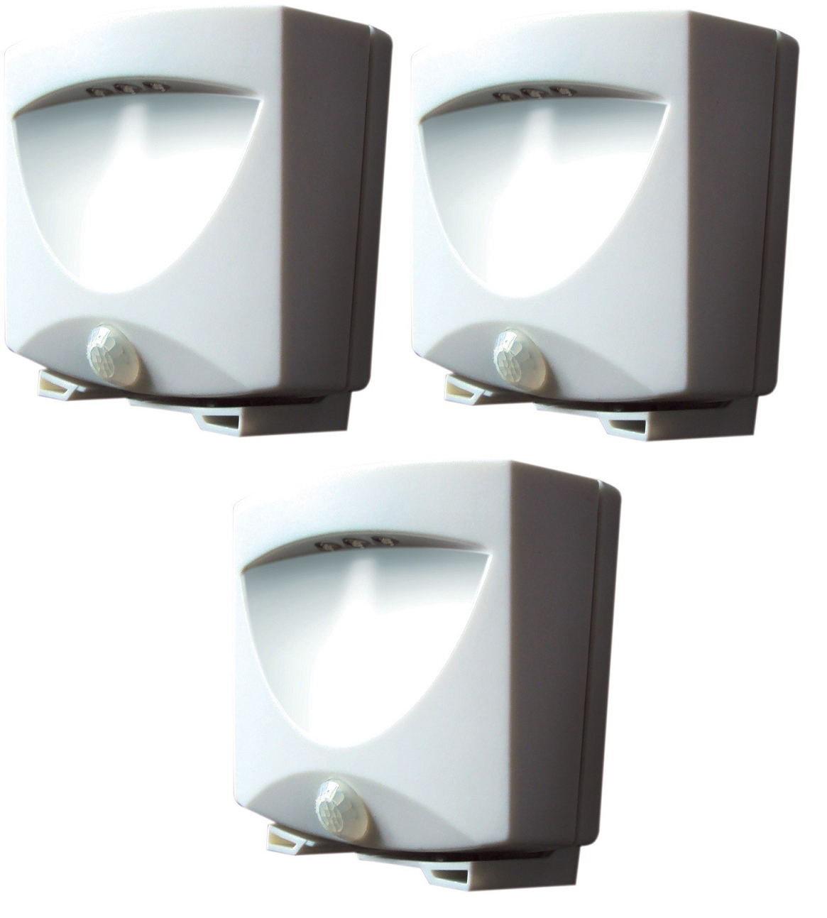 Motion activated outdoor led night light set of 3 battery operated aloadofball Image collections