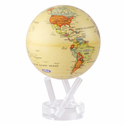"Mova Globe - 8.5"" Rotating Globe - Antique Design - Beige"