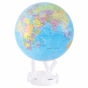 "Mova Globe - 8.5"" Rotating Globe - Blue with Political Map"