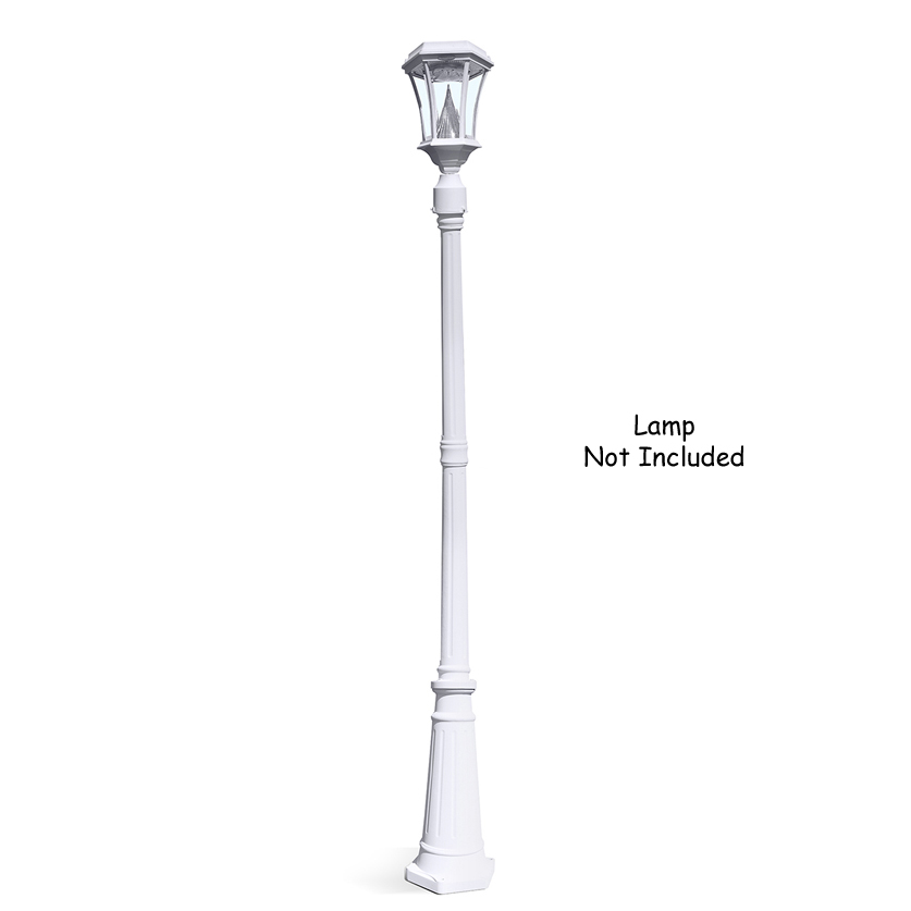 Outdoor lamp post 68 cast aluminum white pole mozeypictures Images