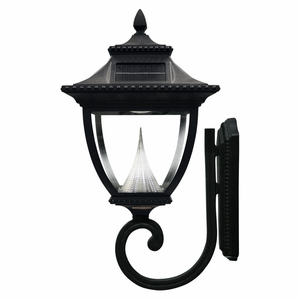 Pagoda Solar Lamp Post Wall Mount