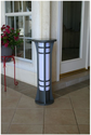 Premium Column Solar Bollard Light By Yardbright