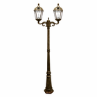 Royal Solar Lamp Post 7 Foot with 2 Heads in Weathered Bronze - Gama Sonic GS-98D