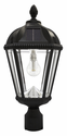 Royal Solar Lamp with GS-Solar LED Light Bulb with 3 Inch Fitter - Black