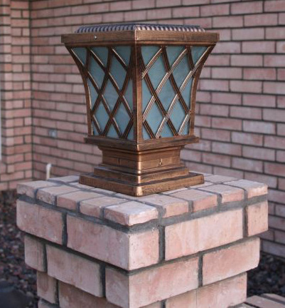 Base Mounted Solar Deck Lights Rail