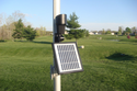 Solar Flag Pole Light - 12 Bright LEDs for Bright Illumination