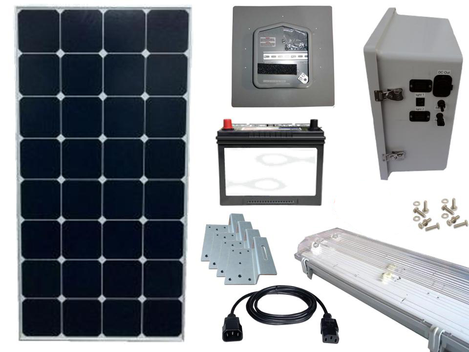 Earthtech Products Solar Lighting Kit For Sheds Garages