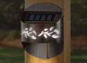 Solar Post Light - Side Mount - Leaf Design Solar Accent Light for 4x4 Posts