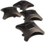 Solar Powered Deck Lights for Decks and Steps, 4 Pack - by Maxsa Innovations