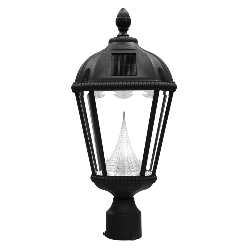 Solar Powered Outdoor Lamp Post Light - Fits Existing 3
