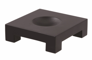 Square Black Wood Base For 6-inch MOVA Globes