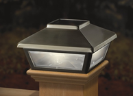 """Stainless Steel-Plated Solar Post Cap Light, Decorative Solar Light for 4x4 Posts (Inside Dimensions measure 3-5/8"""" x 3-5/8"""")"""