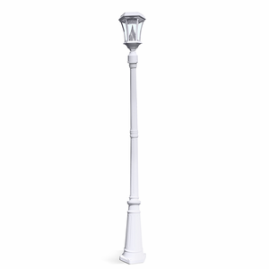 Victorian Solar Lamp Post in White