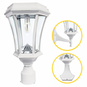 Victorian Solar Light with Warm White GS Solar Light Bulb in White