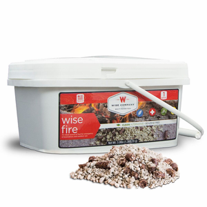 Wise Fire - Instant Fire Wood Pellets for Emergency Preparedness Kits - 1 Gallon