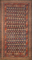 "Antique Shirvan - Circa 1910: 9'3"" x 5'"