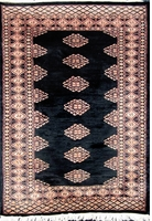"Diamond Bokhara: 4'4"" x 3'"