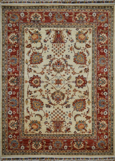 "Kandahar Lotus Bouquet: 7'10"" x 5'7"""