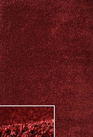 Plain Shaggy Dark Red: 5' x 8'