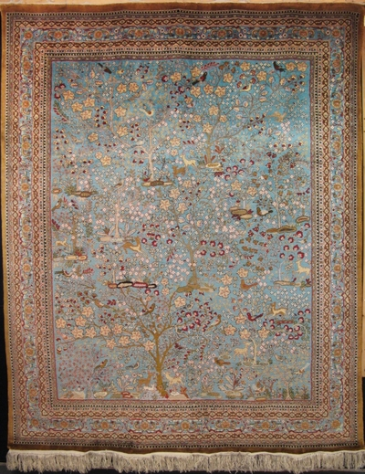 "Qum - Tree of Life : 9'10"" x 7'11"""