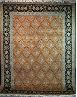 "Qum Trellis - Arts & Crafts de William Morris : 12'3"" x 9'"
