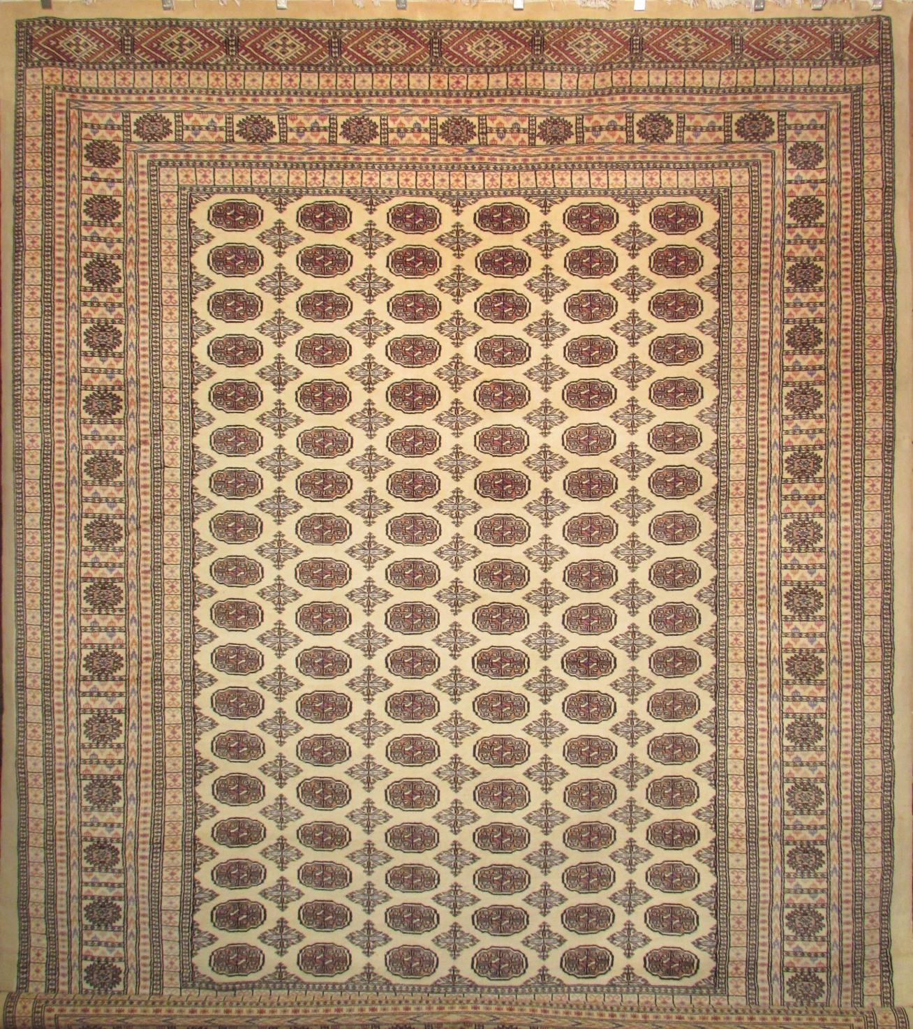 High Quality Bokhara Rug Pure Wool Hand Knotted Rug