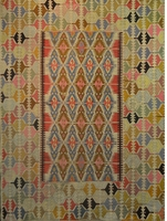 "Semi-antique Anatolian Kelim, circa 1950: 10'8"" x 6'6"""
