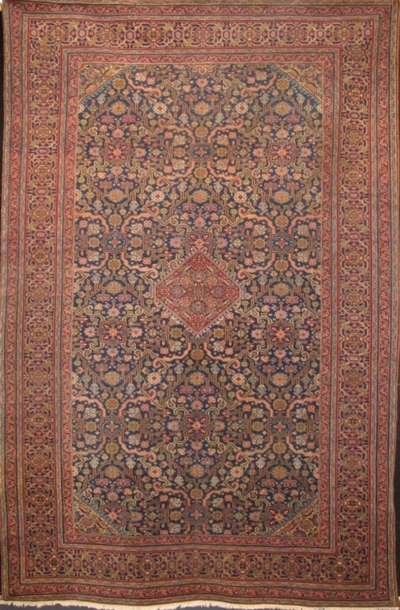 "Semi-Antique Tabriz: 10'5"" x 6'9"""